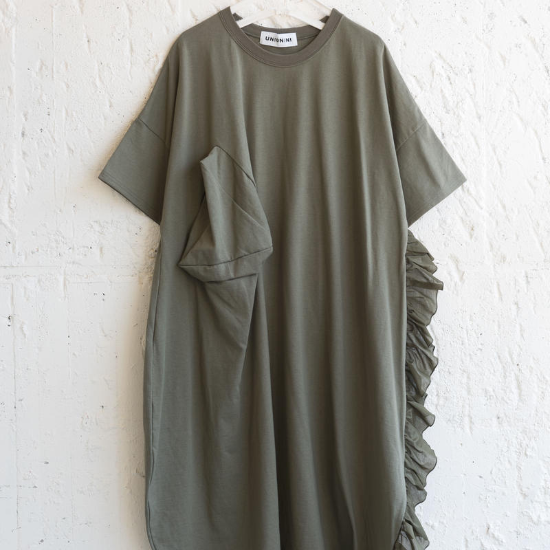 【 UNIONINI 2019SS 】OP-056 ◯△ long dress (M) / Kahki  / レディース