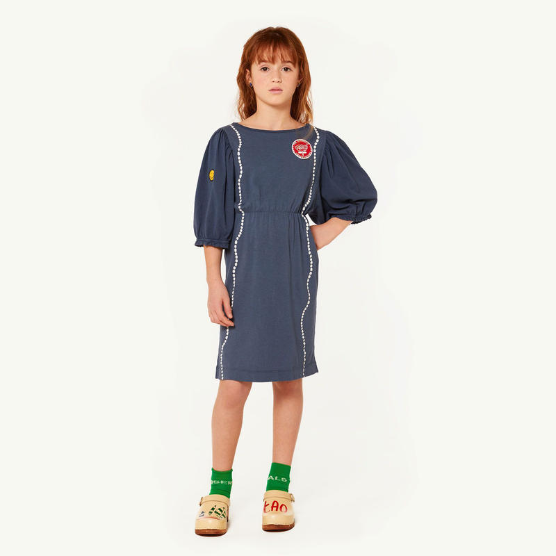【 THE ANIMALS OBSERVATORY 2019SS 】SWALLOW KIDS DRESS / cobalt