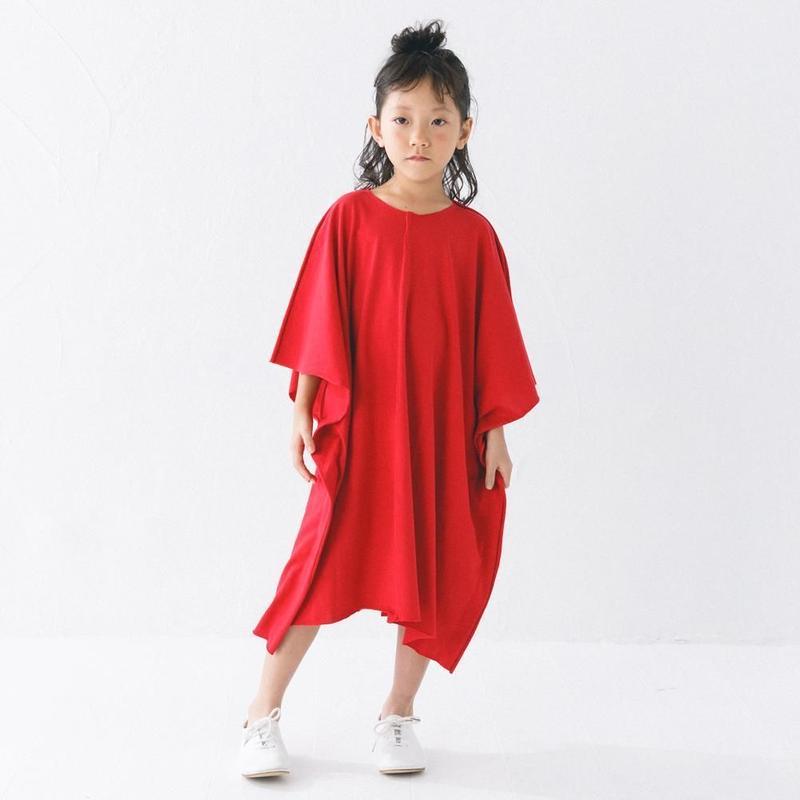 【 nunuforme 2019SS 】nf11-962-501スクエアワンピ / Red