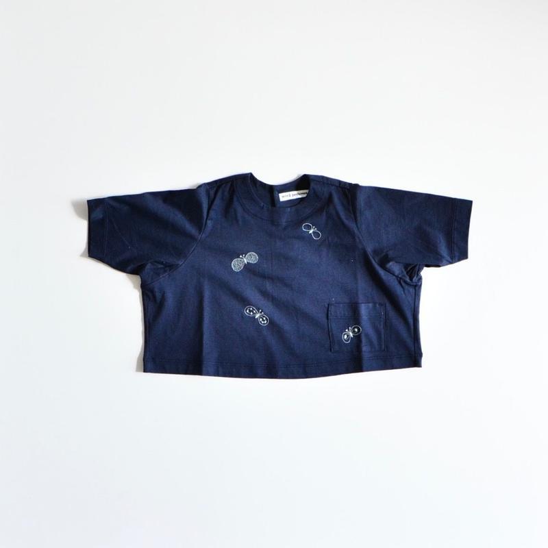 """【 ミナペルホネン 19SS 】XS8958P choucho """"トップス"""" / navy / 80-100cm"""