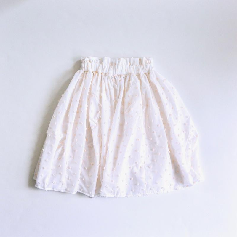 【 franky grow 2019SS 】BT-226 BONBON CUT JQ CUT SWITCHING SKIRT / WHITE*BEIGE BONBON / S-L