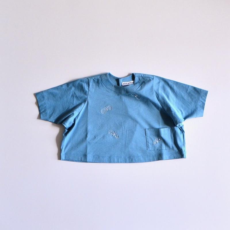 """【 ミナペルホネン 19SS 】XS8958P choucho """"トップス"""" / blue / 80-100cm"""
