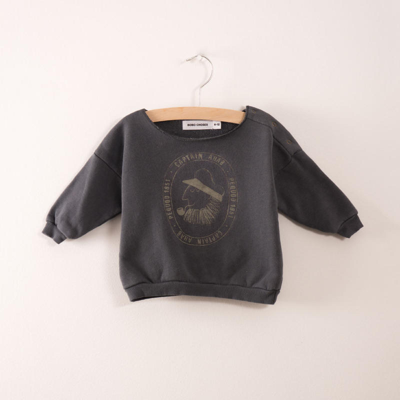 【 bobo Choses 2017AW】217183 Baby Sweatshirt Captain Ahab