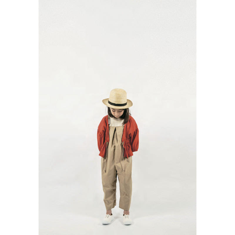【 mini poupons 19SS 】タイプライター サロペット / beige  / 8Y