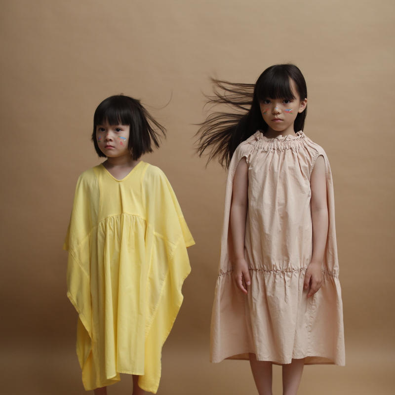 【 folk made 2019SS】No.14  baton dress / ペールピンク