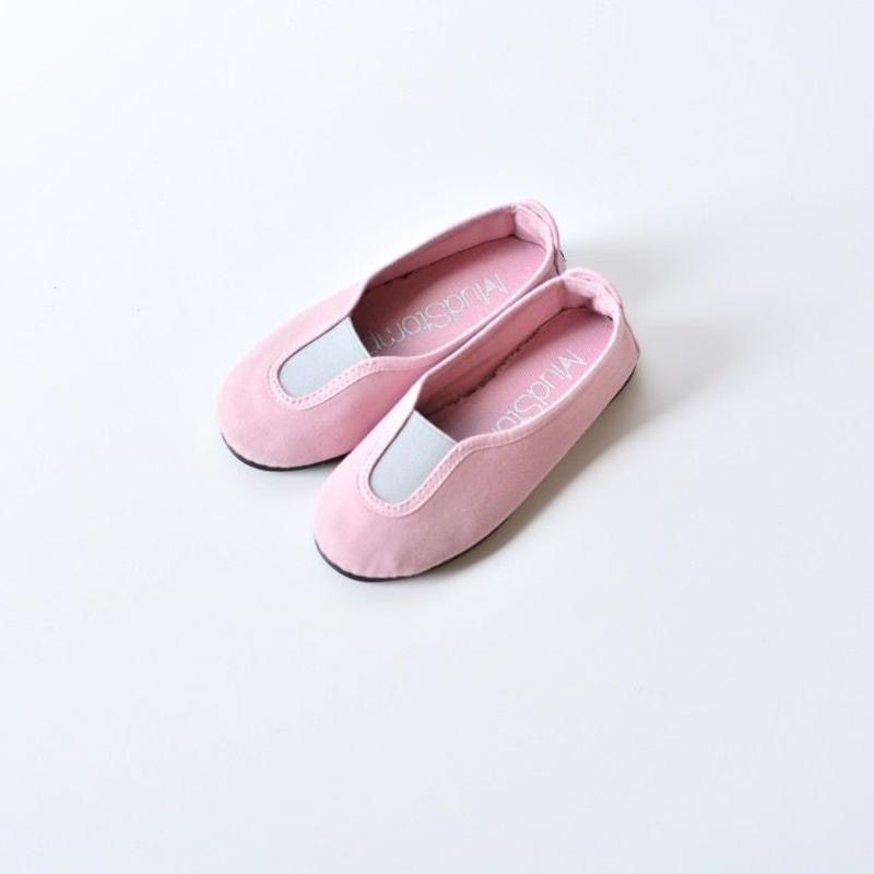 【 La Cadena 2018SS 】 SLIP ON / Smoky Pink x Light Grey / size 15〜19cm