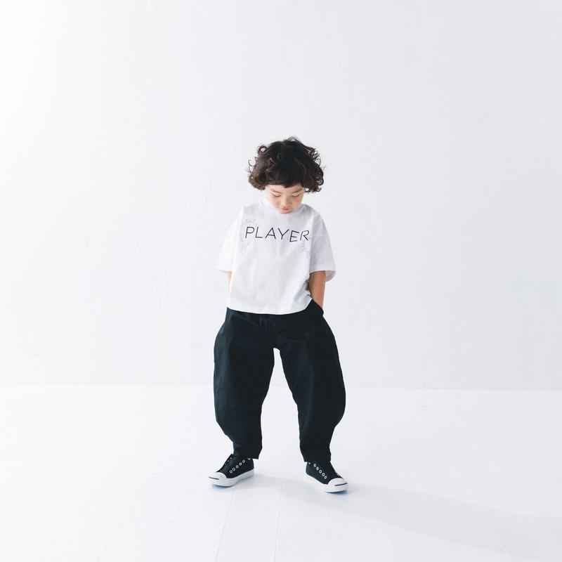 【 nunuforme 2019SS 】nf11-618-006A ヘムタックカーブパンツ / Black / レディースサイズ