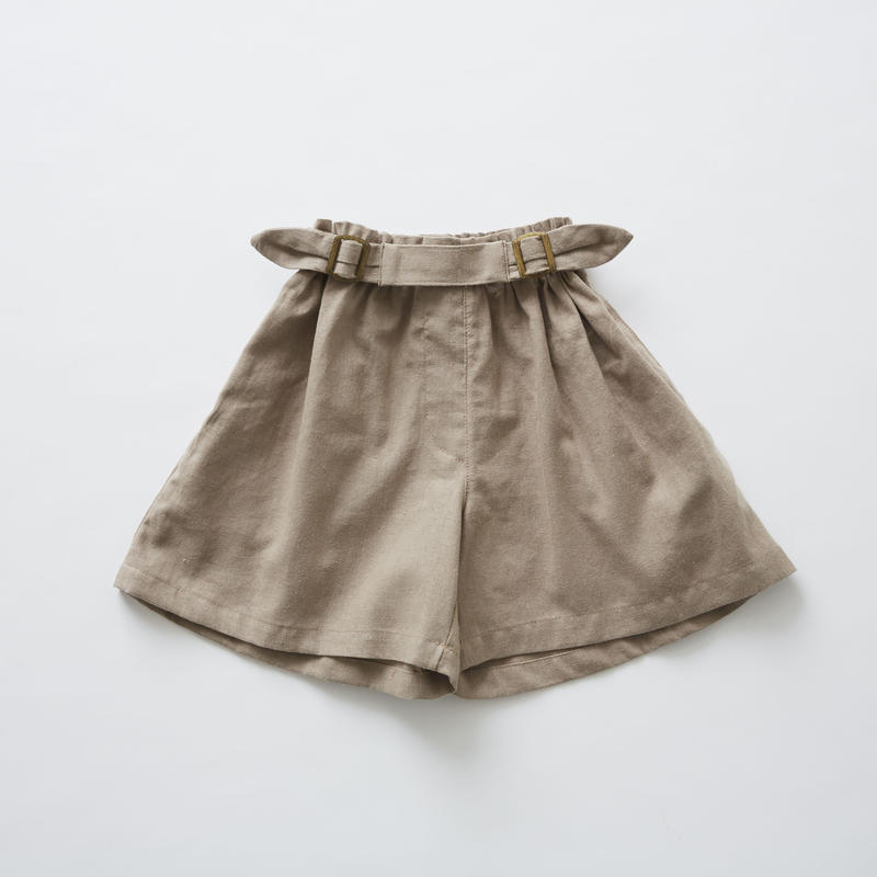 【 eLfinFolk 2019SS 】elf-191F31 linen canvas culotte pants / mocha