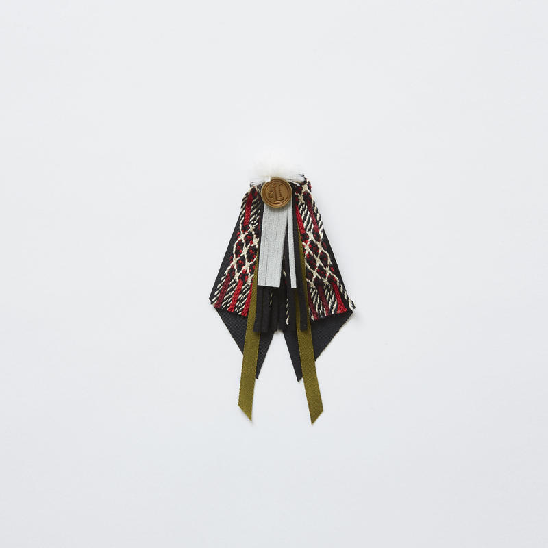 【 eLfinFolk 2019SS 】elf-191A41 cicada brooch / red