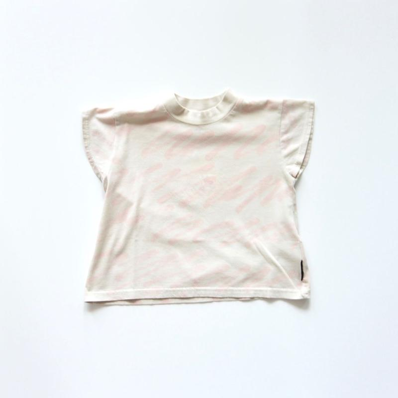 【 franky grow 2019SS 】CS-304 H/W SQUARE TEE / BEIGE-PINK / S-L