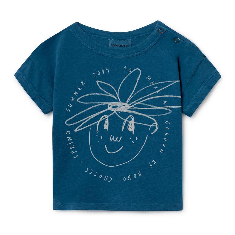 【 Bobo Choses 2019SS 】119152 Daisy Linen T-Shirt