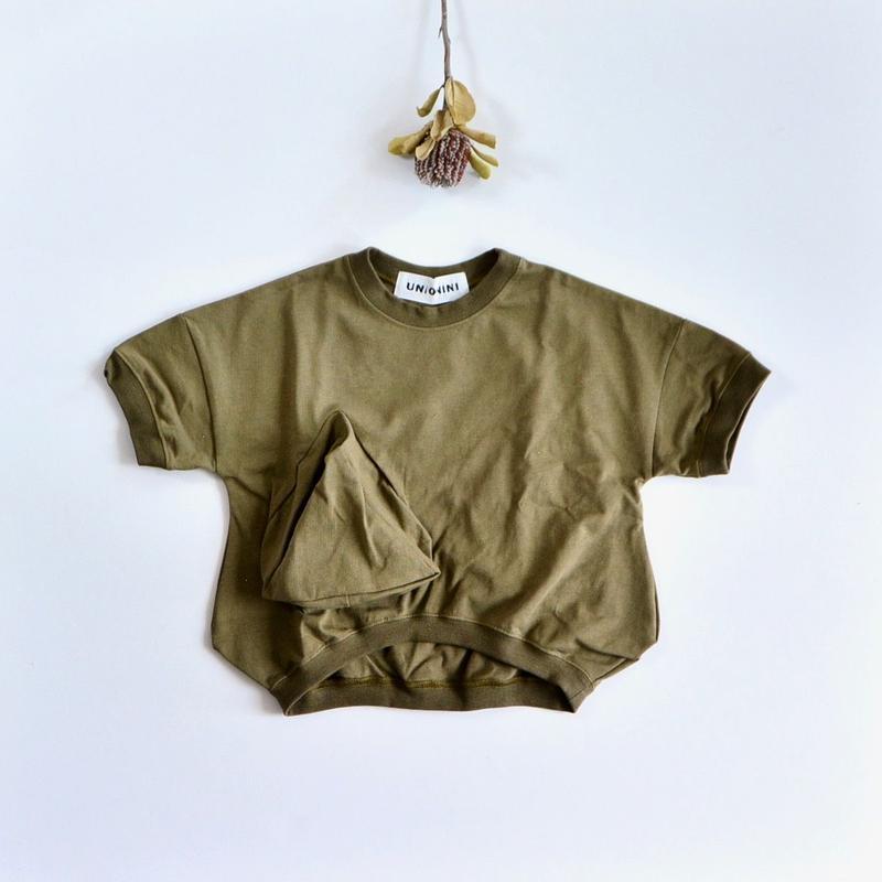 【 UNIONINI 2019SS 】CS-039 ◯△ T-shirt / Kahki  / レディース