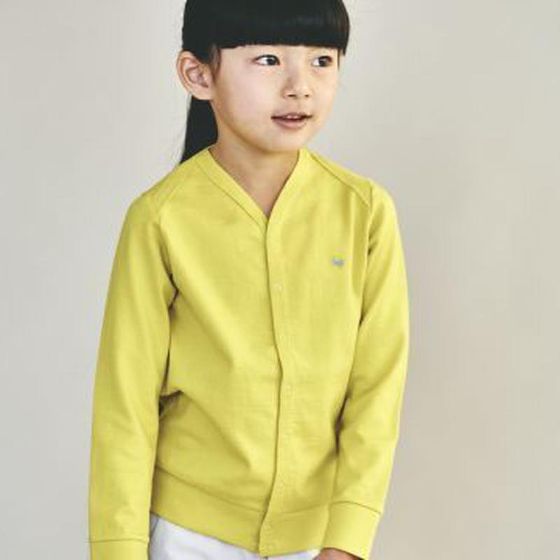 """【 ミナペルホネン 19SS 】XS8957P zutto """"カーディガン"""" / yellow / 110-130cm"""