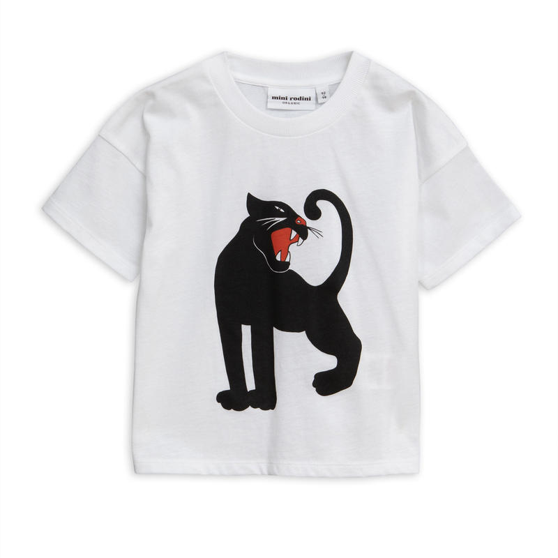【 mini rodini 2019SS 】20131  Panther sp tee / White