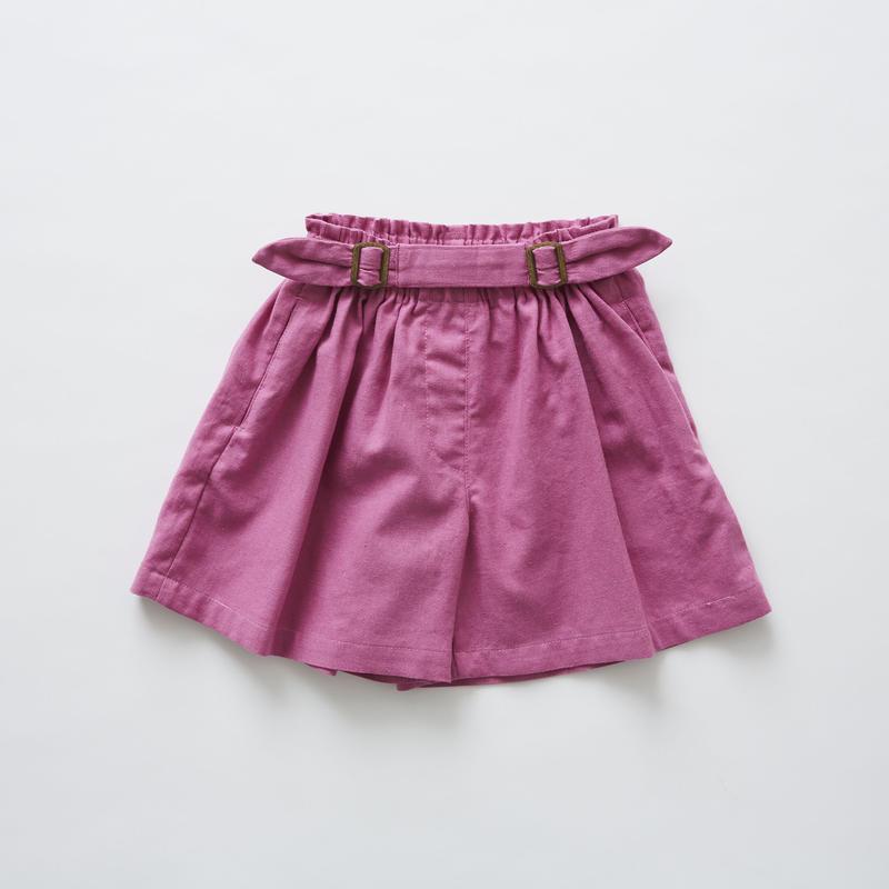【 eLfinFolk 2019SS 】elf-191F32 linen canvas culotte pants / pink