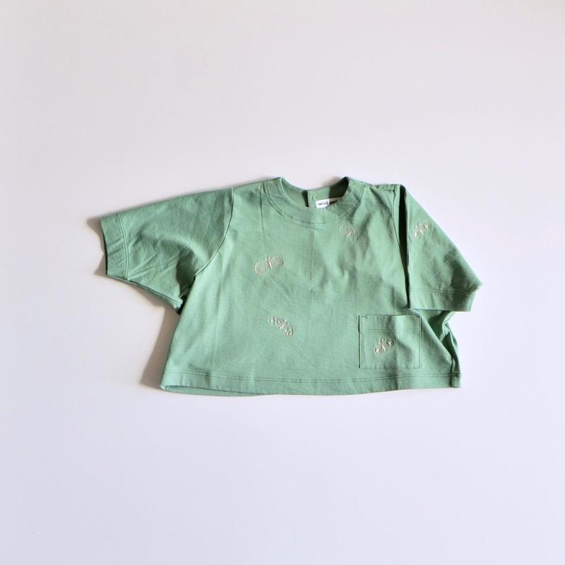 """【 ミナペルホネン 19SS 】XS8959P choucho """"トップス"""" / green / 110-130cm"""