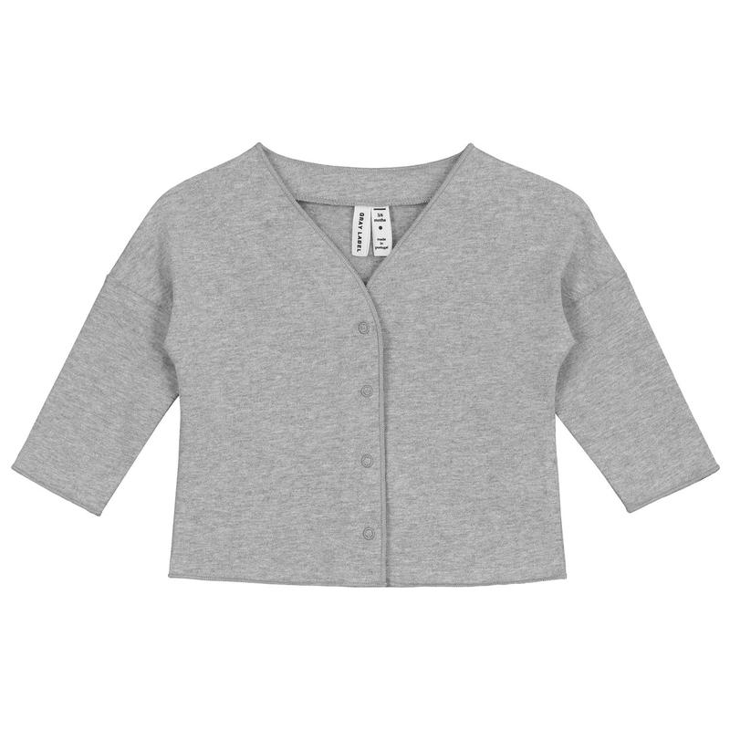 【 GRAY LABEL 2019SS】Baby V-Neck Cardigan / Grey Melange / 9-12m