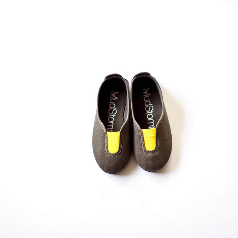 【 La Cadena 2019SS 】 GIMNASIA - Panel Slip On / OLIVE x YELLOW / 23〜24.5cm