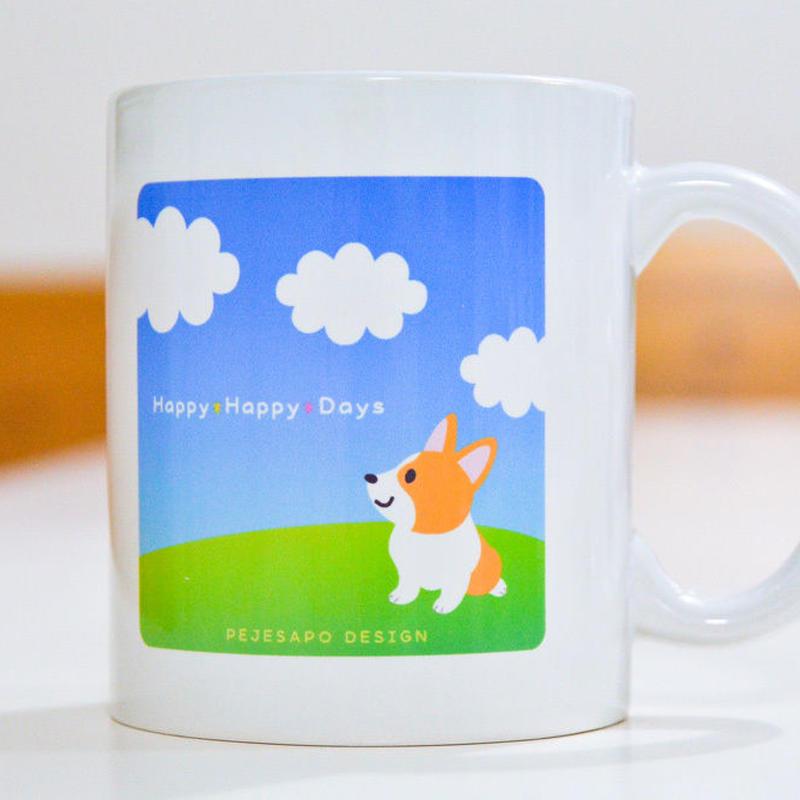 青空コーギーマグカップ