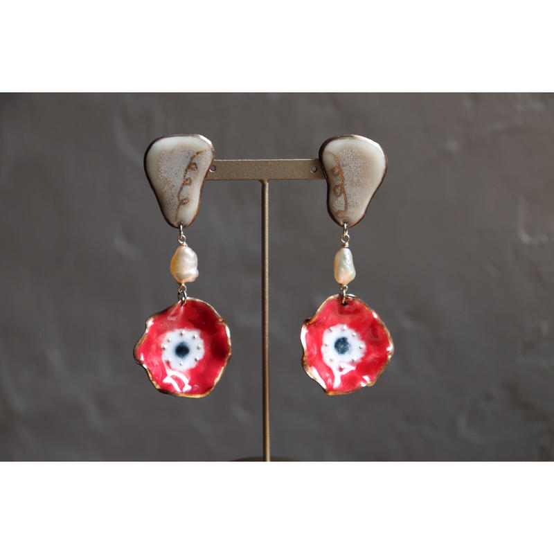 Ear flower earrings