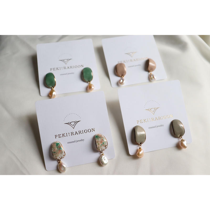 【Peau earrings spring/summer 】[PEKI!RARIGON]