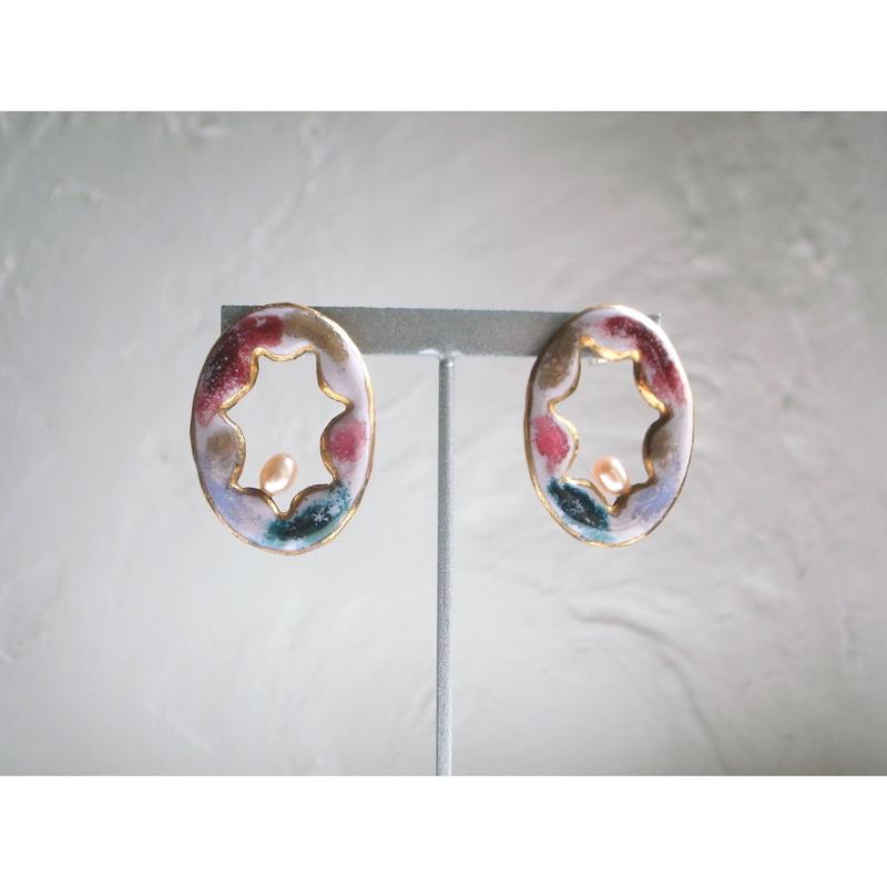 """FALL""【pink mud earrings】[PEKI!RARIGON]"