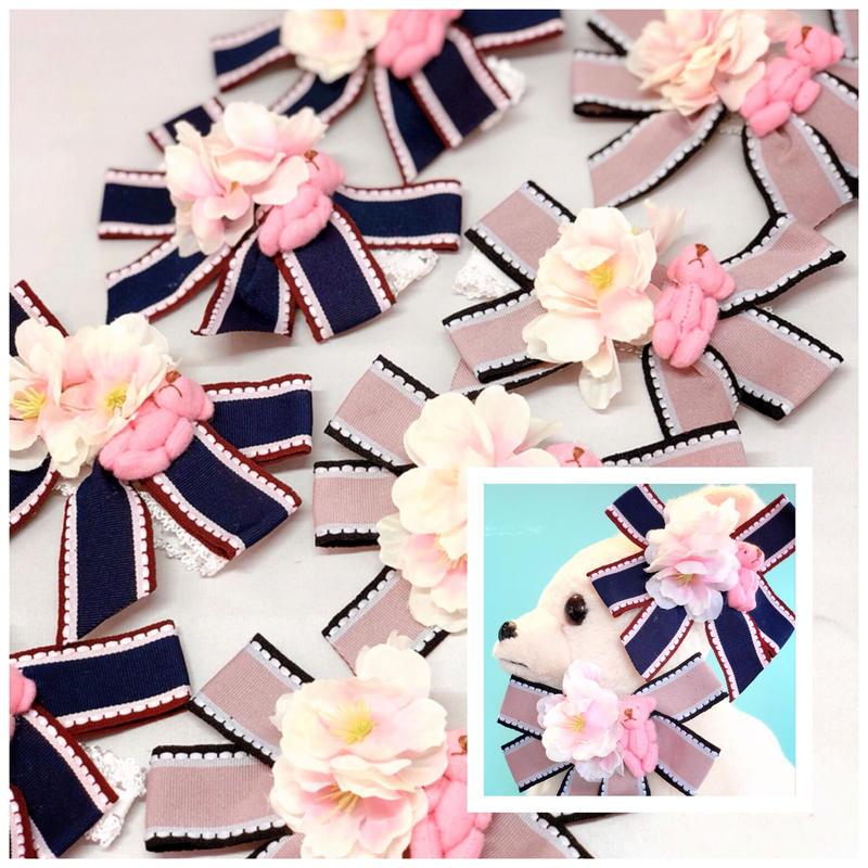 桜/ベアストレッチチョーカー/20cm×10本