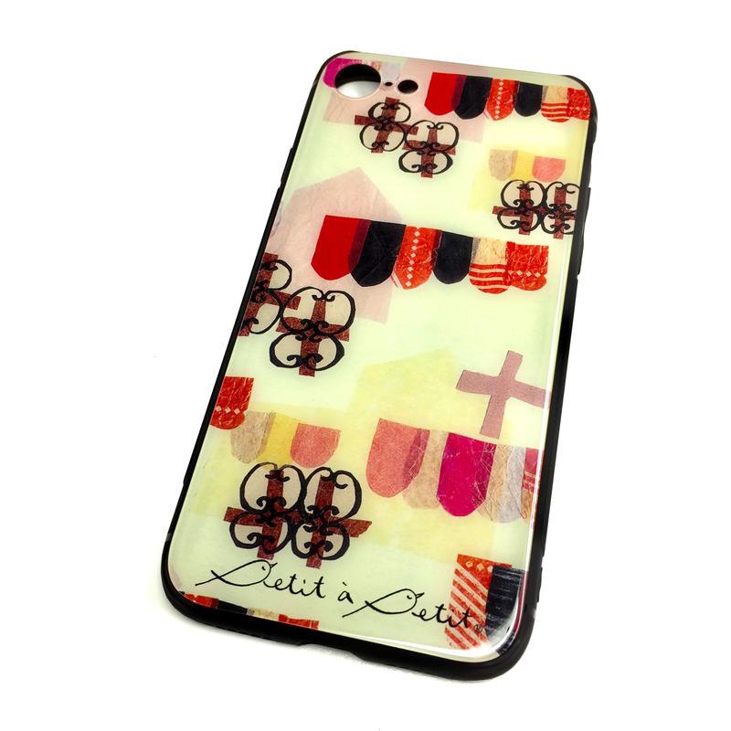 ★10日でお届け【チロル】iphone XS/X/7/8 背面ガラスケース