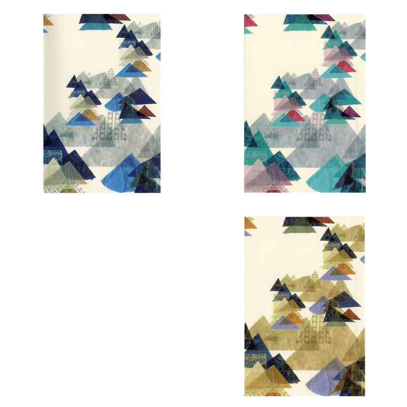【山】(レ・モンターニュ)【全3色9枚入】ポストカードセット