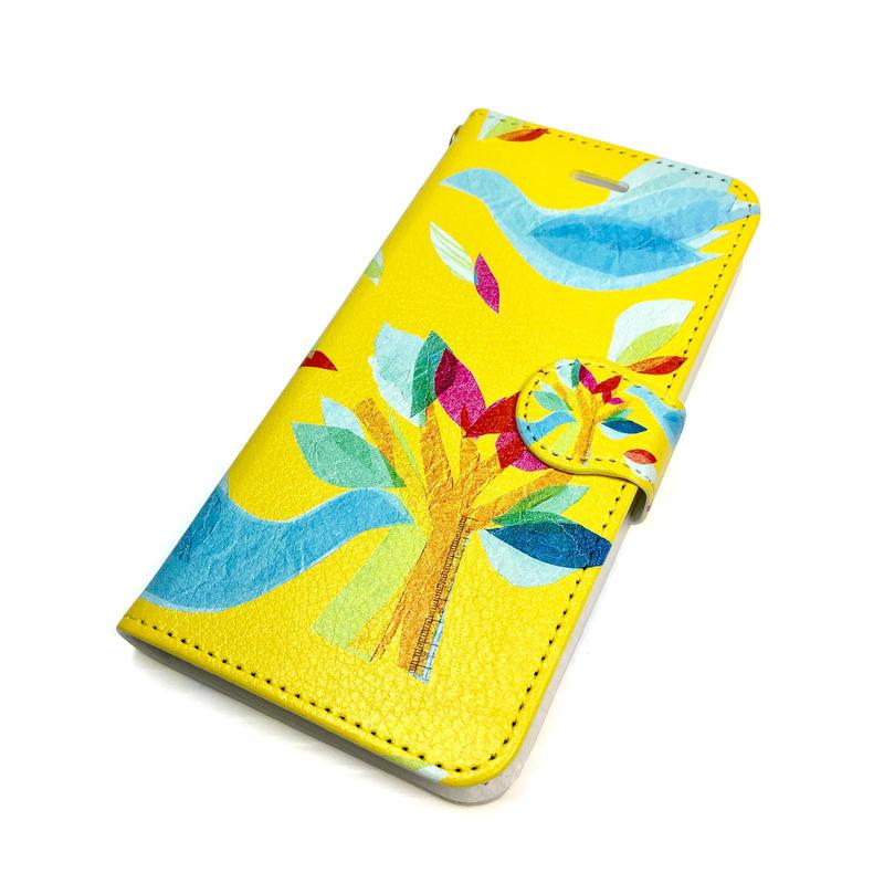 Android手帳型ケース/Lサイズ★10日でお届け【鳥】(ロワゾ)【全3色】