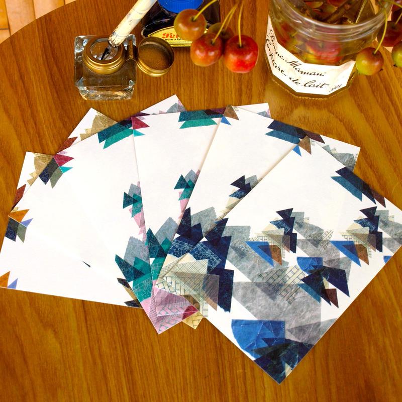 ポストカード(レ・モンターニュ3色)6枚セット【山】