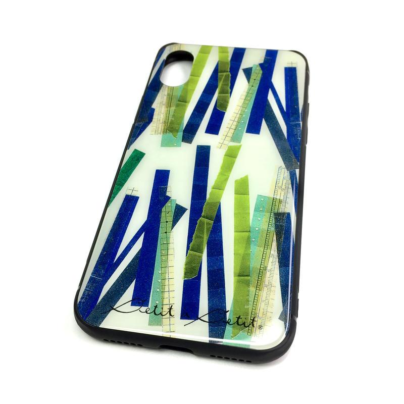 ★10日でお届け【竹】(バンブー)iphone XS/X/7/8 背面ガラスケース