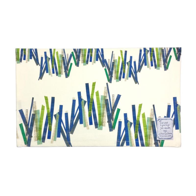【全4柄】【竹、図書館、チロル、鳥ターコイズ】テーブルマット