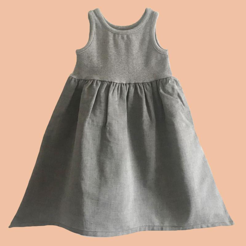 No-sleeve Rib Dress