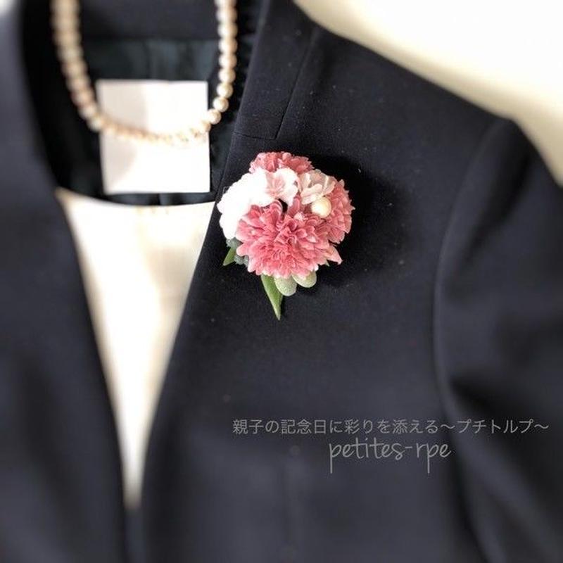 桜&マムの上品コサージュ 卒業式・入学式・セレモニーにも♡