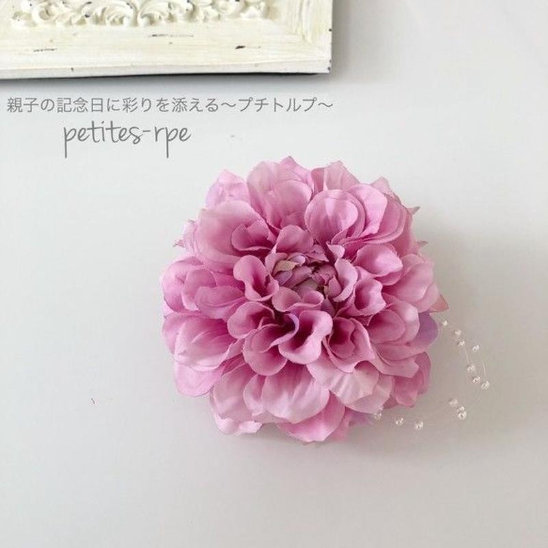 ピンクダリア&パールのシンプルコサージュ 入学式・卒業式・セレモニーにも♡