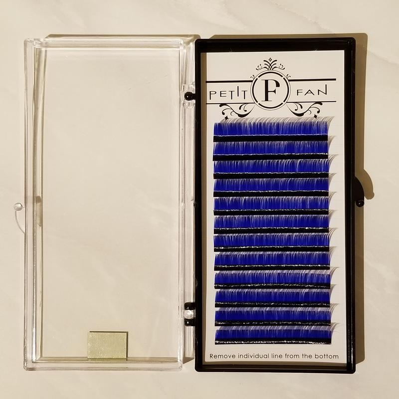 シングルカラーラッシュ《ブルー》Cカール0.15mm 9~15mm