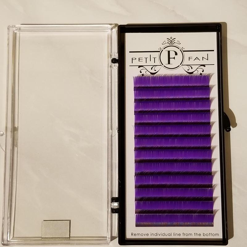 フラットカラーラッシュ《パープル》Dカール0.15mm 9~15mm