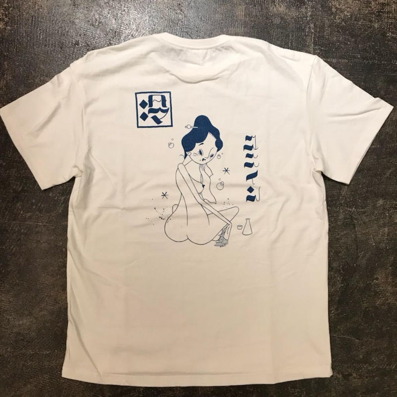 "「THE UNIIN」""温&冷"" T-SHIRTS - color / WHITE xBLUE (冷)"