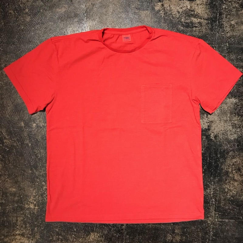 「THE FABRIC」POCKET TEE - color / RED (moreAXE  SPECIAL)