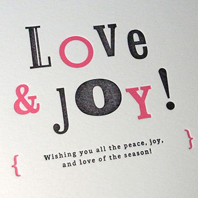Message Card #02 : LOVE & JOY!