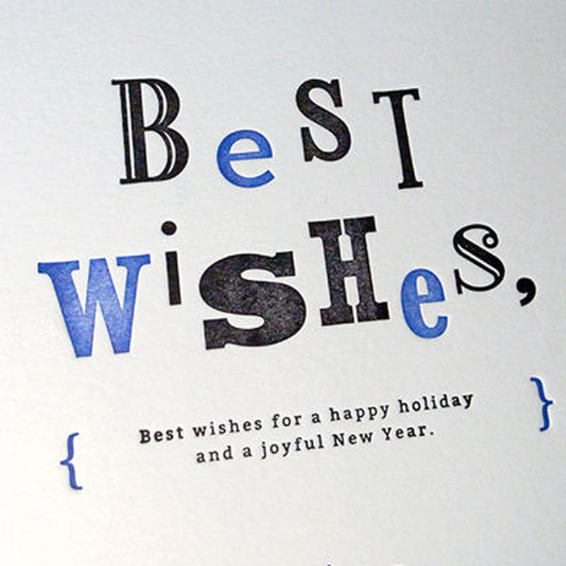Message Card #01 : Best wishes,