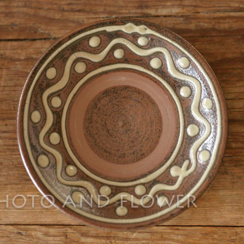 沖縄・田村窯のやちむん 5寸皿(約15cm)