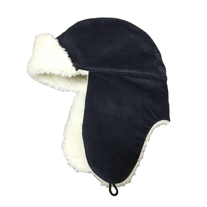 BOMBER CAP CORDUROY NAVY×OFF WHITE