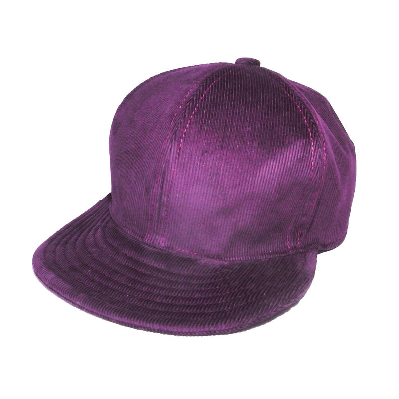 SNAP BACK CAP CORDUROY BURGUNDY