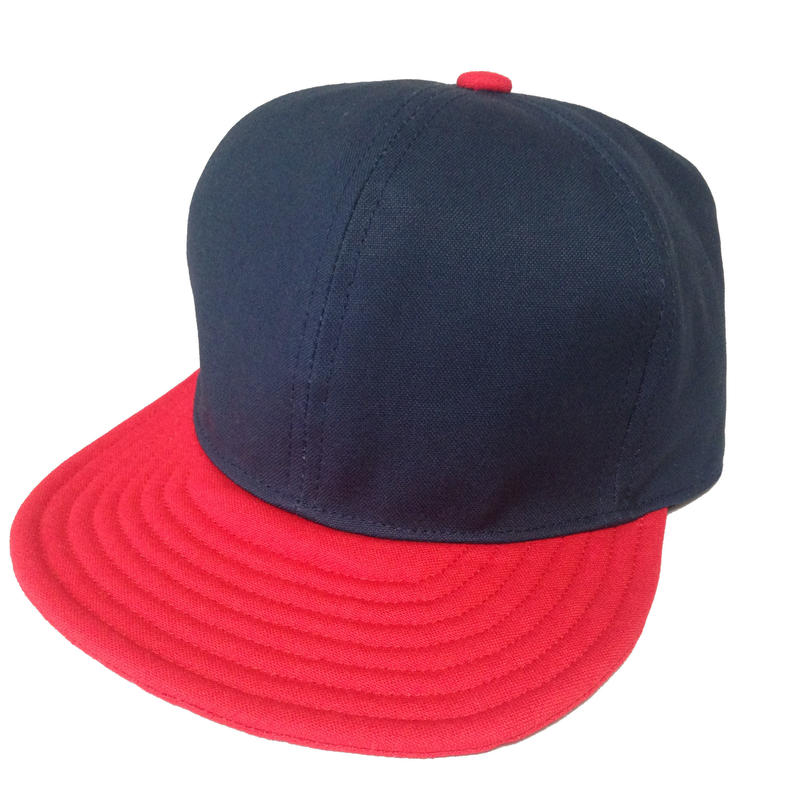 SNAP BACK CAP  NAVY×RED