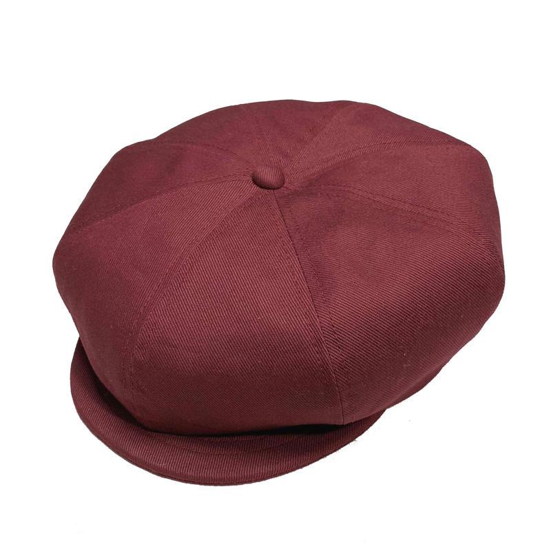 NEWSBOY CAP BURGUNDY