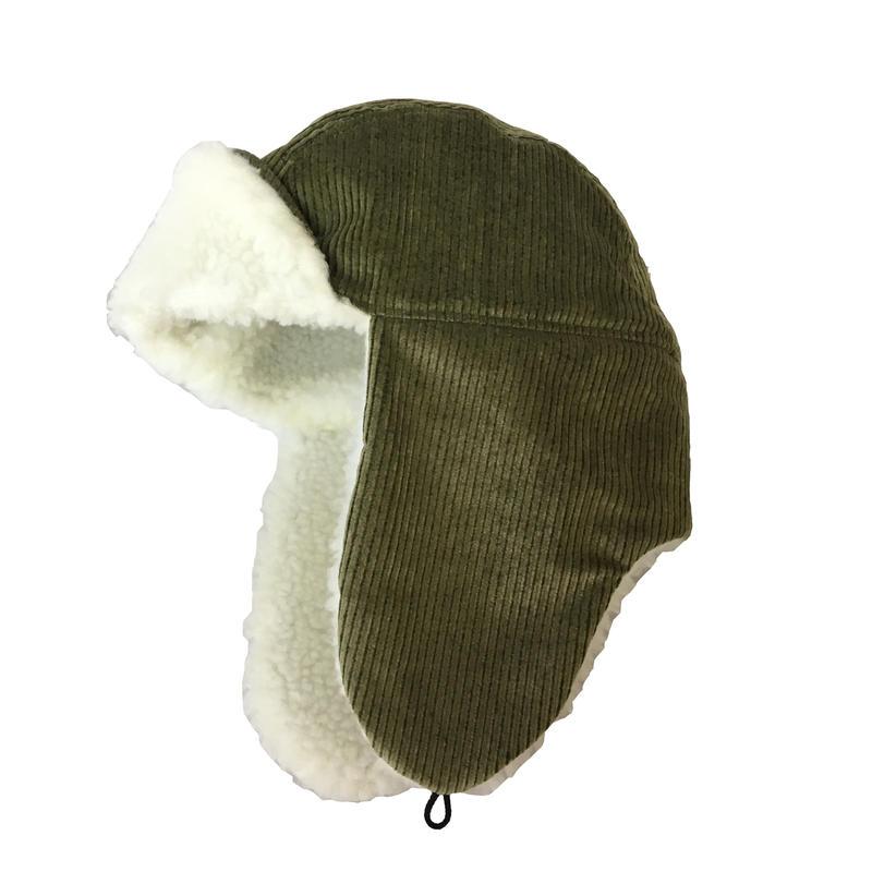 BOMBER CAP CORDUROY FAT CORDS GREEN