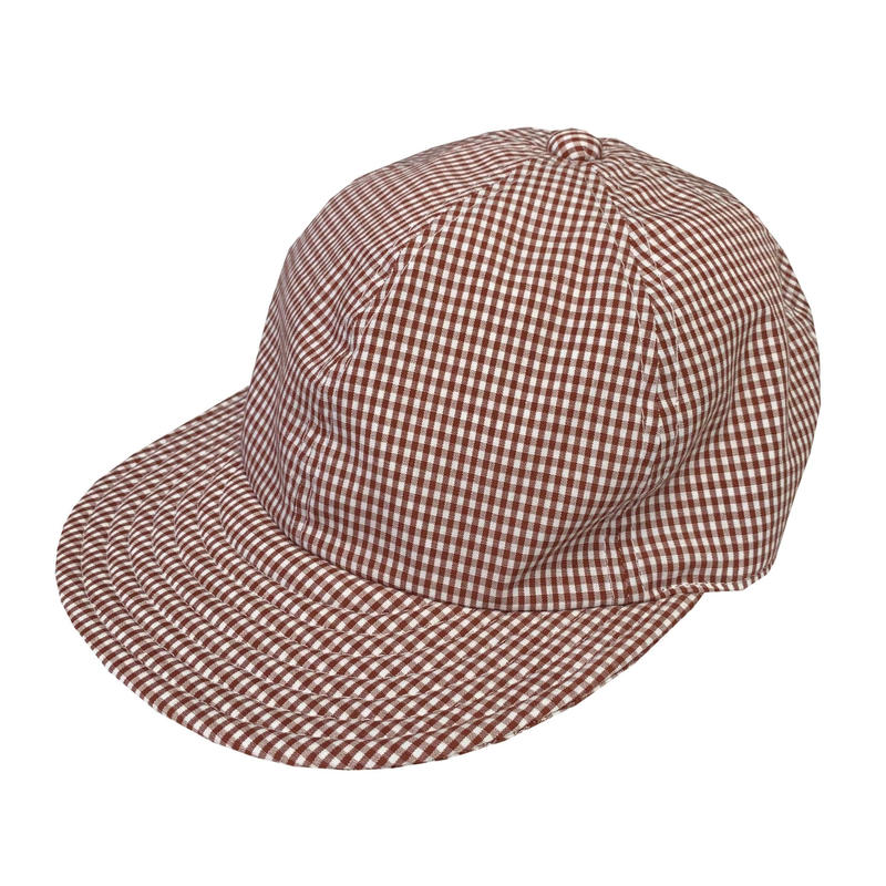 "LOW STRAP CAP ""GINGHAM CHECK BROWN"""