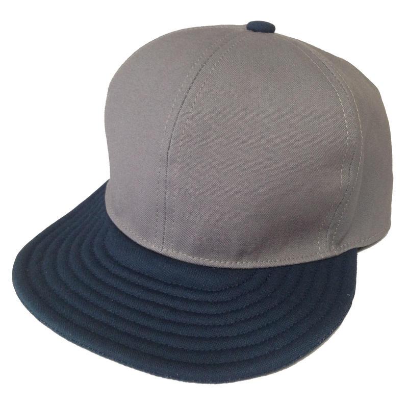 SNAP BACK CAP  GRAY×NAVY